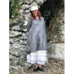 robe longue NATACHA lin gris