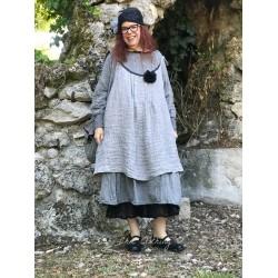robe ELOISE lin froissé gris