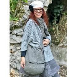 sac réversible AIMEE coton chambré gris et vichy gris