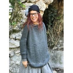 pull long LUCIEN laine gris foncé