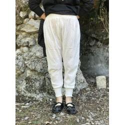 panty FANFAN coton blanc cassé à pois noir