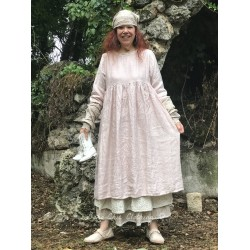 long dress CANDYS pink linen