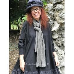foulard PAULINE coton vichy gris