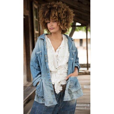 jacket Aelvoet Workwear in Washed Indigo Magnolia Pearl - 1
