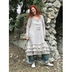 dress Natural sense in Mocca Linen