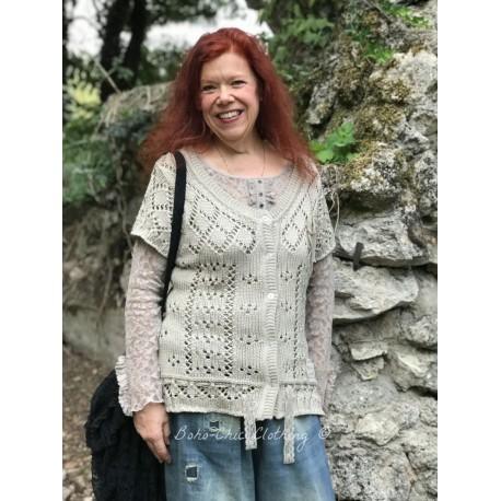 knitted blouse Devotee hearts in Beige
