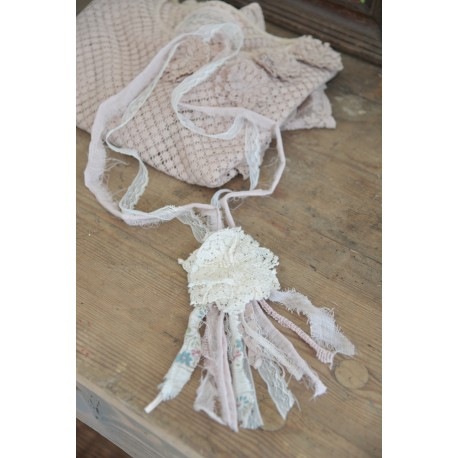 necklace Pink Lace
