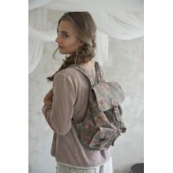 sac à dos Backpack en cuir imprimé gris