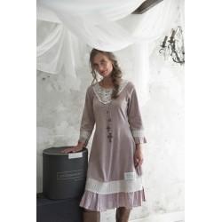 dress Delicate past in Delight plum velvet