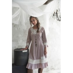 robe Delicate past en velours prune