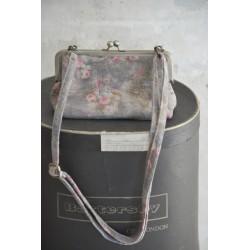 petit sac bandoulière Frame Bag en cuir imprimé gris