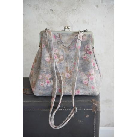 grand sac bandoulière Frame Bag en cuir imprimé gris