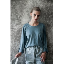 T-shirt Casual moments en coton bleu tendre