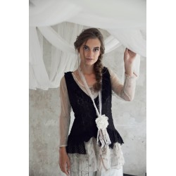 gilet Faithful soul en dentelle noir