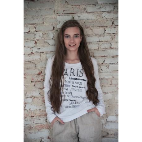 T-shirt Paris en coton blanc imprimé