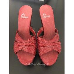 Sandale à talons haut Castaner rouge