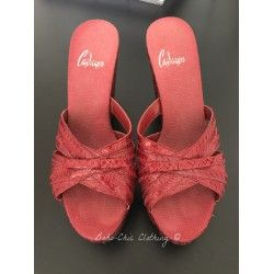 High Heel Sandal Castaner in Red