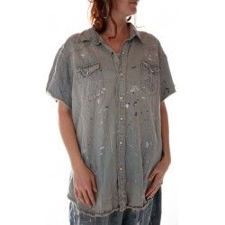 chemise Marfa Pearl in Railroad