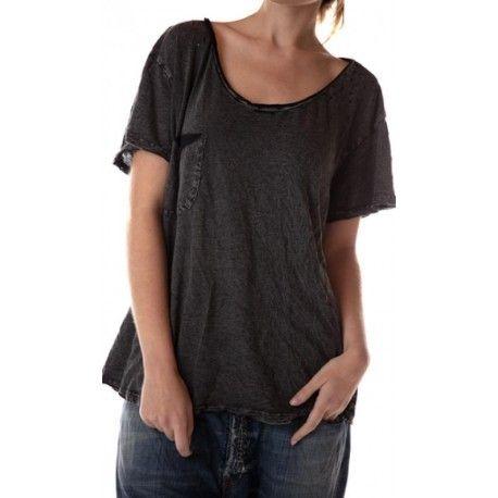 T-shirt Sofiane short sleeves in Basalt