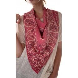 scarf Silas Paisley Bandana in Bastille