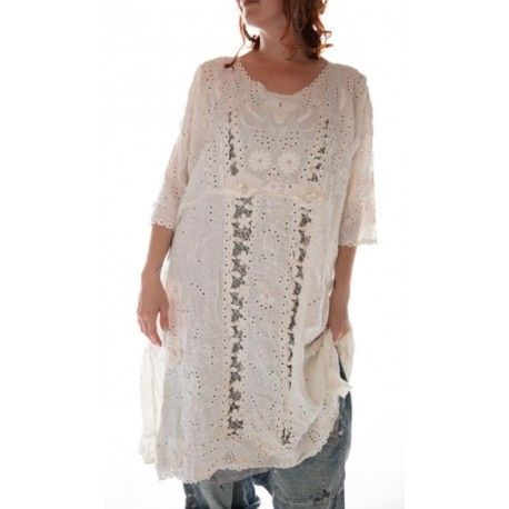 dress Coronado in Antique White