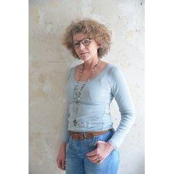 blouse Joyful moods in Dusty blue