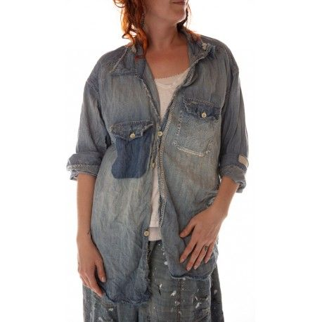 chemise Cole Chambray in Washed Indigo