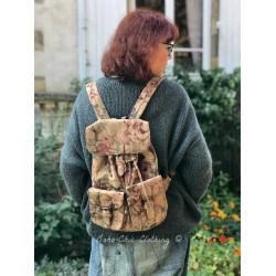 sac à dos Backpack en cuir imprimé marron