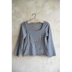 T-shirt Casual times en coton gris