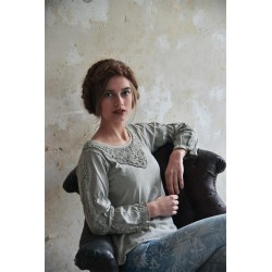 chemisier Charming truth en coton gris taupe