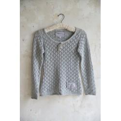 pull Forever joy en coton gris clair