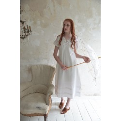 robe Romantic past en coton blanc