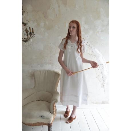 robe Romantic past en coton blanc
