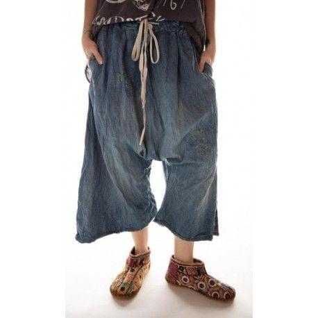 pantalon Jai in Washed Indigo