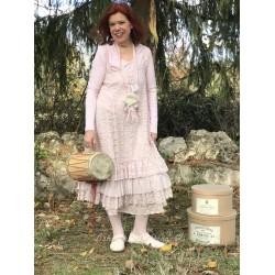 robe Natural charming en dentelle rose poudre