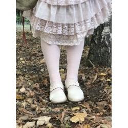 chaussettes solid over-the-knee en laine et cachemire rose clair