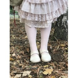 chaussettes solid over-the-knee laine + cachemire rose clair