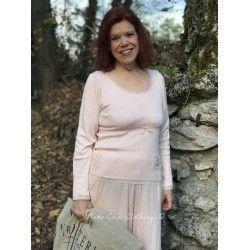 T-shirt manches longues Joyful moods en coton rose poudre