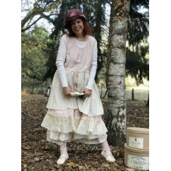 dress NOEMIE in pink linen