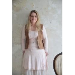robe manches longues Joyful moods en coton rose poudre