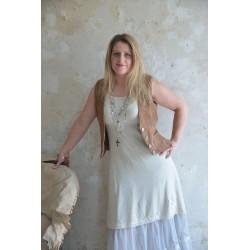 robe à larges bretelles Joyful moods en coton crème