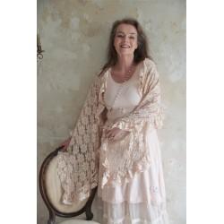 robe à larges bretelles Joyful moods en coton rose poudre