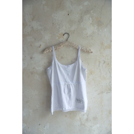 Simple strap top Pure life in White cotton
