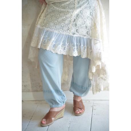 trousers Joyful moods in Dusty blue cotton