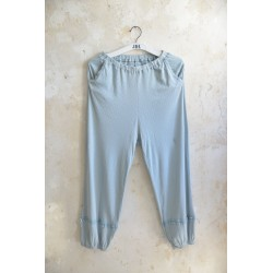 trousers Joyful moods in Dusty blue cotton