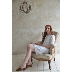 tunique Romantic mind en coton blanc