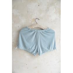 short Joyful moods en coton bleu ciel