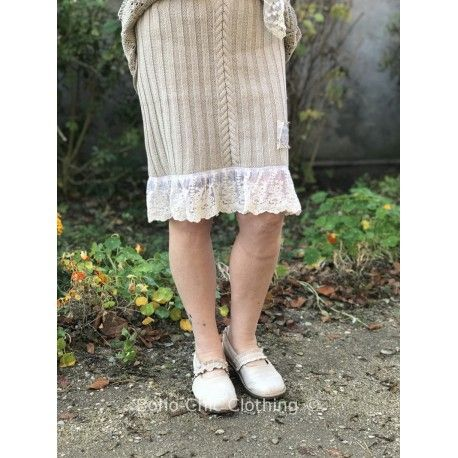 skirt Chosen moments in Cream cotton and embroidered tulle