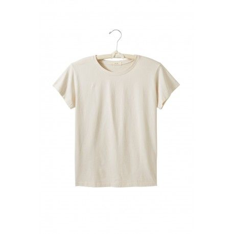 T-shirt short sleeve round neck in natural cotton