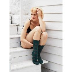 socks giant dot in ivy wool and cashmere